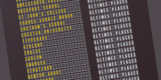 LAST CALL FOR PASSENGERS: ÚLTIMES PLACES
